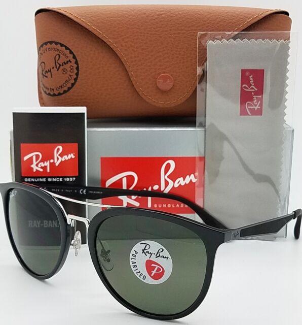 51705a1a0c NEW Rayban Sunglasses RB4285 601 9A 55 Black Polarized Green G15 Double Bar  4285