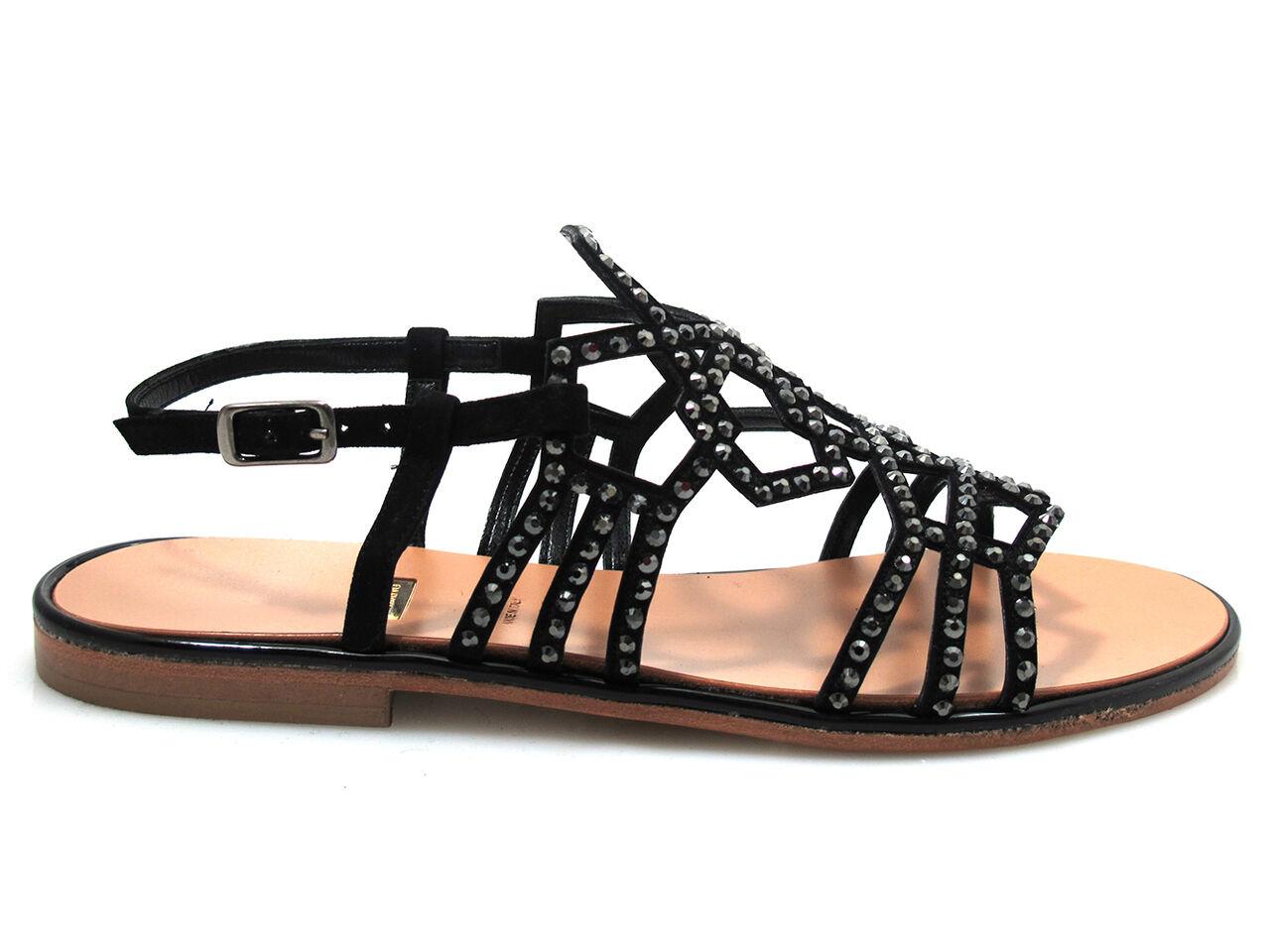 Albano Albano Albano 4894 mujer sandalia plana de vestir Elegante Correas de cristales de Swarovski negro  preferente