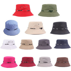 Solid-Color-Bucket-Hat-Outdoor-Travel-Fishing-Men-Women-Casual-Sun-Cap-Candy