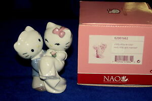 8a7918977 NEW NAO BY LLADRO #1662 HELLO KITTY GETS MARRIED! BRAND NIB CUTE ...