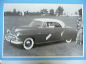 12-By-18-034-Black-amp-White-Picture-1950-Chevrolet-2-Door-Hardtop