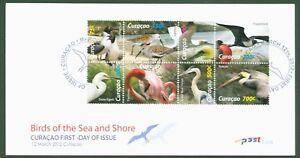 Curaçao 2012-oiseaux Pelikan Flamingo Fregattvogel Baßtölpel Hérons Nr 84-91 Fdc