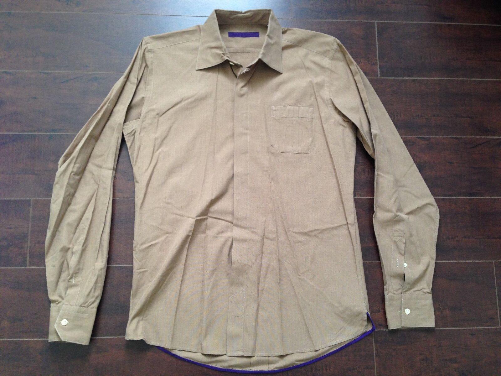 NWOT JEAN-PIERRE RAMOS Brown Fashion Dress Shirt - S