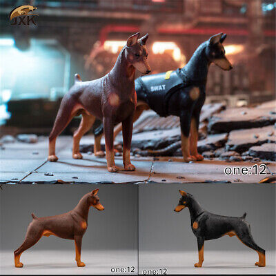 JxK 1//6 Doberman pinscher Hunter Dog Pet Figure Animal Model Collector Decor