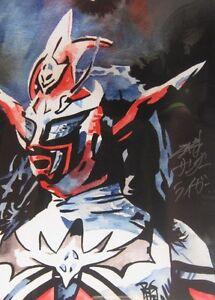 Autographed Jushin Liger 18 x 24 Poster Signed NJPW AJPW Thunder Lyger Wrestling