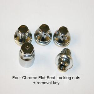 4x-Chrome-Flat-Seat-OEM-Alloy-Wheel-Locking-Nuts-fits-Mitsubishi-Colt
