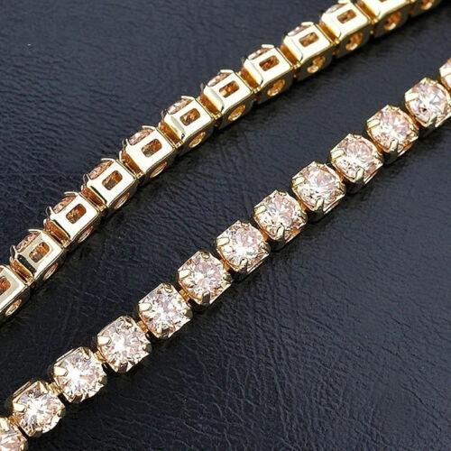 Femmes élégant simple rangée cristal argent Tennis Bracelet Bijoux Cadeau Wa