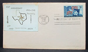 Lone-Star-Austin-Texas-First-Day-Cover-Patriotic-Stamp-US-H-6300