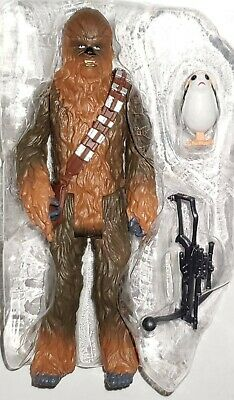 "Star Wars The Last Jedi Chewbacca Porg Bowcaster 3.75/"" Figure MOC Force Link TLJ"