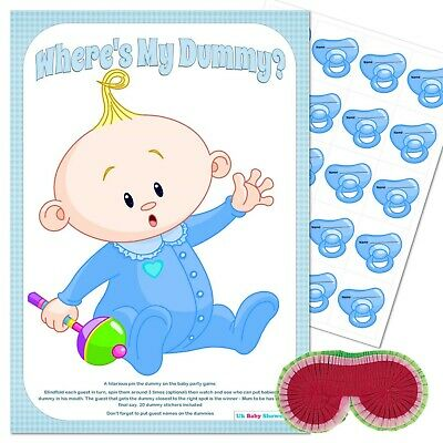 Baby Shower Game Pink Girl Premium 20 Player Pin the Dummy on the Baby