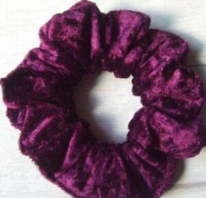 Green Velour Scrunchie Hair Elastic Band Bobble Velvet feel