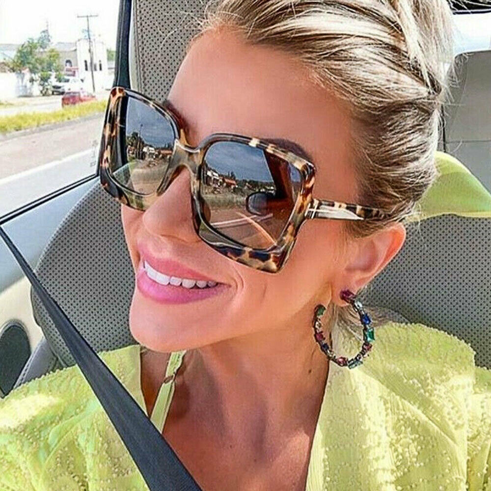 Fashion Oversized Square Sunglasses Women Driving Outdoor Glasses Eyewear UV400
