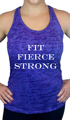 Fit Fierce Strong Burnout Tank Top, Fitness & Workout Shirts & Tops