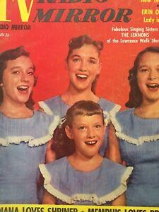 Vintage-Collectible-TV-Radio-Mirror-Movie-Magazine-March-1957-Lennon-Sisters
