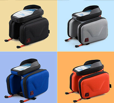 "Bike Bicycle Front Pannier Saddle Tube Frame 5.5"" phone Case Double Bag Pouch"
