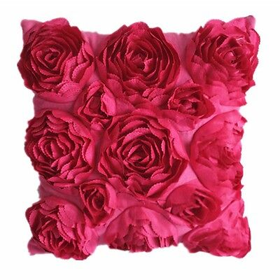 New Decoration Taffeta Rose Couch Cushion Cover Home Decor Throw Pillow Case #05