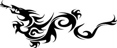 "Tribal Dragon Vinyl Decal Sticker Car Windows Walls Laptops 11.5"" x 4"""