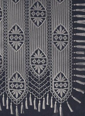 Vintage Crochet PATTERN MOTIF BLOCK Bedspread Stripes