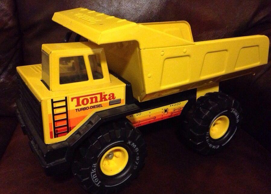 VINTAGE TONKA Turbo Diesel Camion benne XMB-975 1970 S