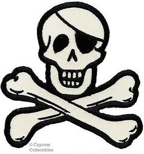 PIRATE-LOGO-iron-on-PATCH-Embroidered-Skull-Crossbones-JOLLY-ROGER-SKELETON