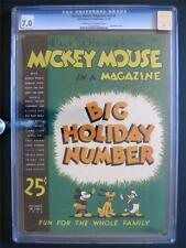 Mickey Mouse Magazine Vol 2 #3 WALT DISNEY 1936 CGC 7.0 Xmas Issue! 2nd HIGHEST