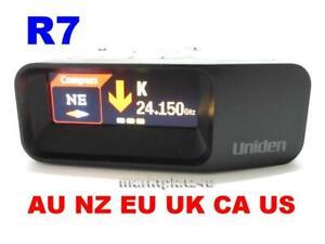 UNIDEN-R7-EXTREME-MRCD-GPS-RADAR-LASER-DETECTOR-INTL-SHIP-EU-CA-RU-AU-NZ-UK-ASIA
