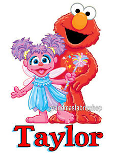 Details About New Personalized Custom Abby Cadabby And Elmo T Shirt Party Favor Birthday Gift