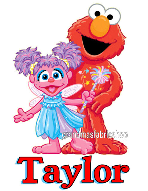 New Personalized Custom Abby Cadabby And Elmo T Shirt Party Favor Birthday Gift
