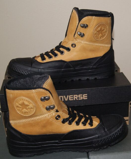3cea55d93ba129 Authentic Converse All Star Chuck Taylor Leather Hollis Boot Mid Men s 9