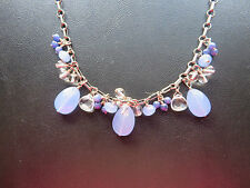 SILPADA - N1242 -Silver Link Necklace with Crystal and Blue Quartz- RARE