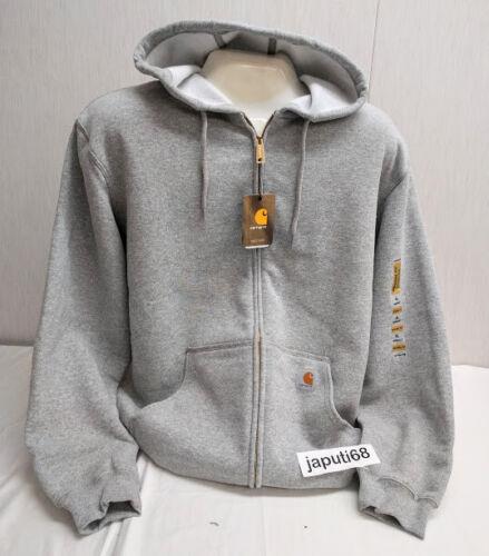 DSSM-122 Full Zip Hooded Sweatshirt Carhartt K122 Men/'s MIDWEIGHT