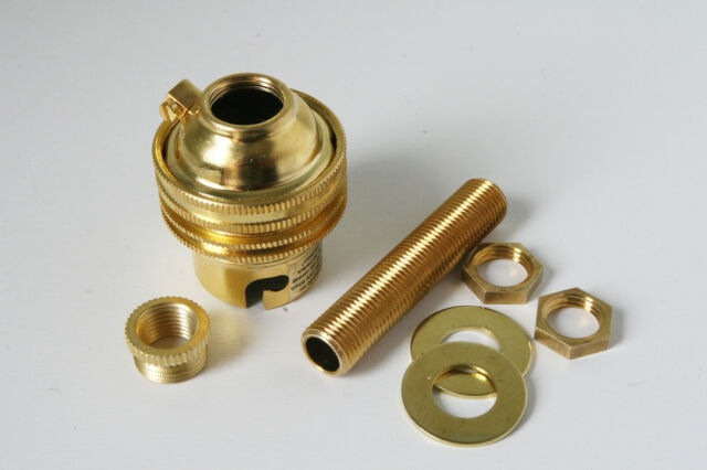 Brass table lamp kit for B22 BC bayonet cap 10mm threaded Brass rod and adaptor
