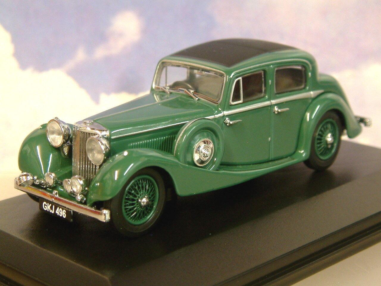 Superbe Oxford Diecast 1 43 Ss Jaguar 2.5 Litre Berline en Daim Vert Jss005