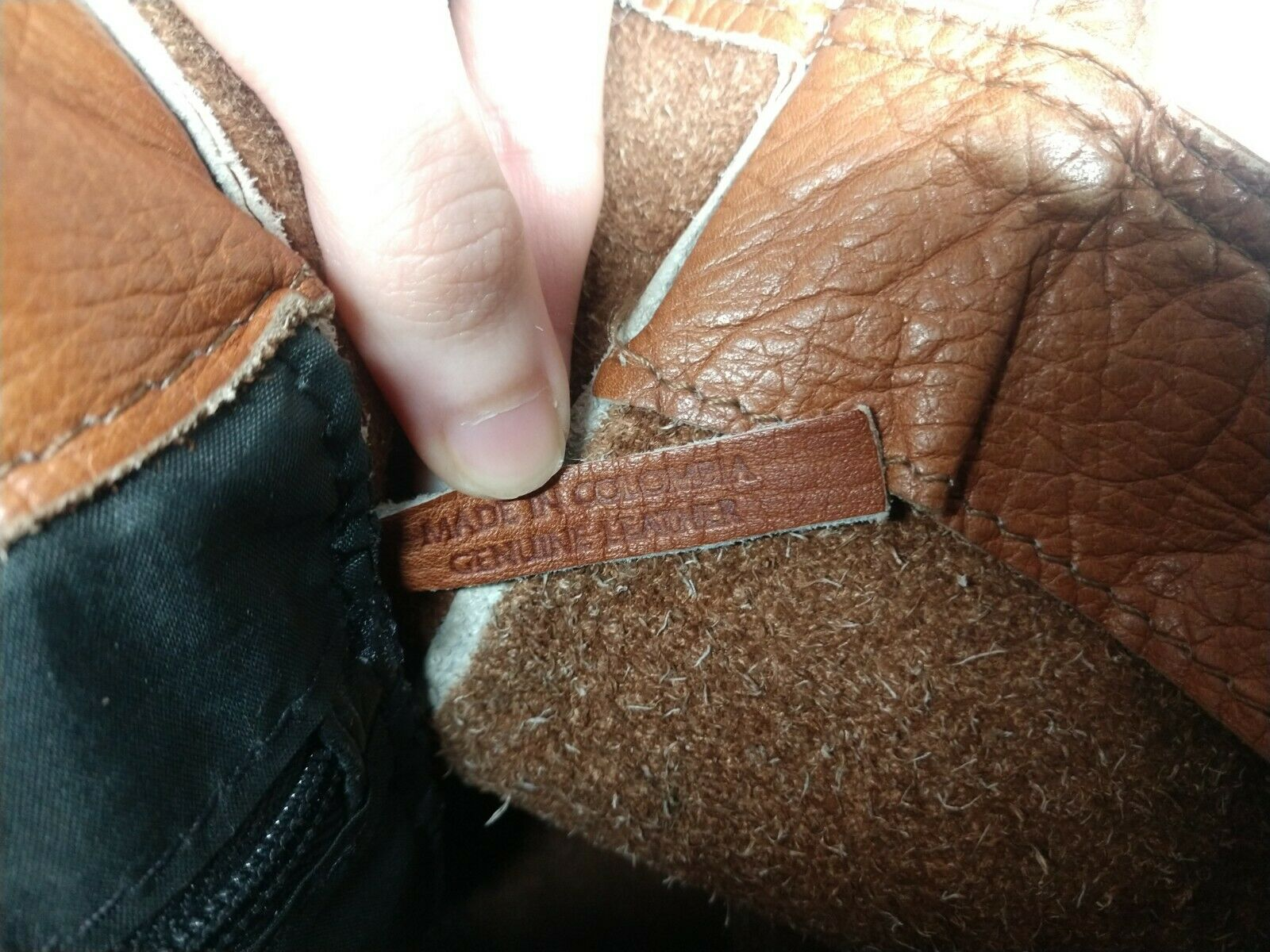 Unbranded Women's Tan Genuine Leather Square Boho… - image 5