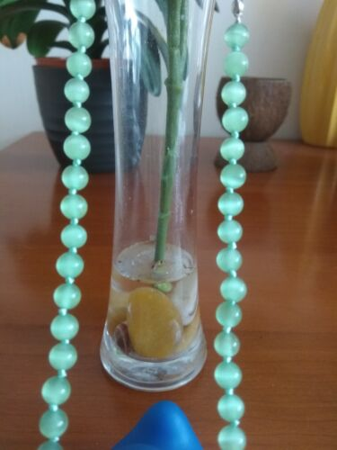 "6mm Naturallight green mexican opalgemstone beads necklace 18/"" UK seller"
