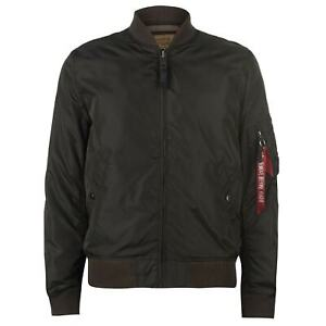Mens-Alpha-Industries-Jacket-Bomber-Midweight-Zip-New