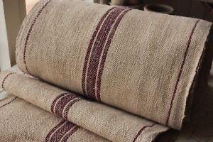 Image Is Loading Vintage Linen STAIR RUNNER HEMP Fabric Per 1