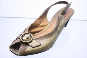MarcoTozzi-Pumps-Metall-Textil-Hightech-Vintage-Look-Gr-40-UK-6-5