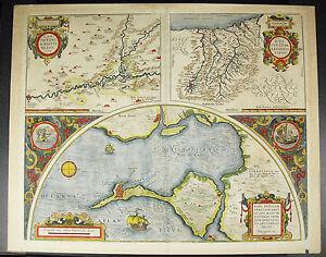 Abraham-Ortelius-1584-Mapa-Map-Carpetania-Espana-Gipuzkoa-Euskadi-Baia-Cadiz