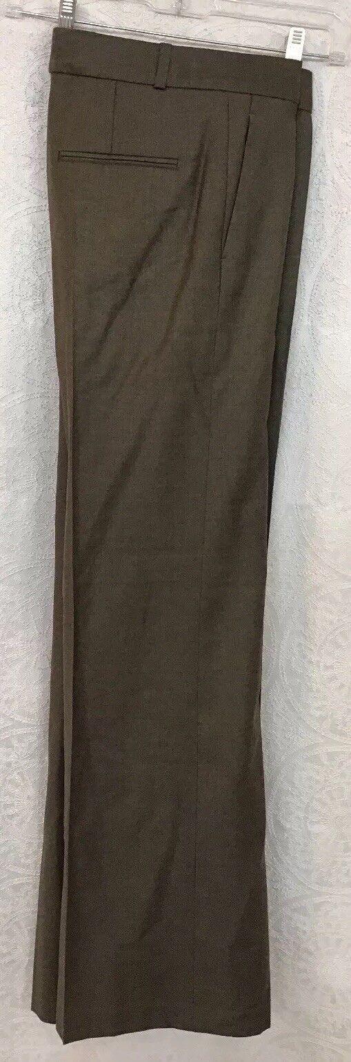 Chloe Pants  Pant Wide Leg Wool Greenish color Size 42  Us 10
