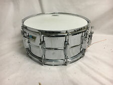 "Vintage Ludwig Supraphonic John Bonham Snare Drum 6.5"" X 14"" Olive Badge"