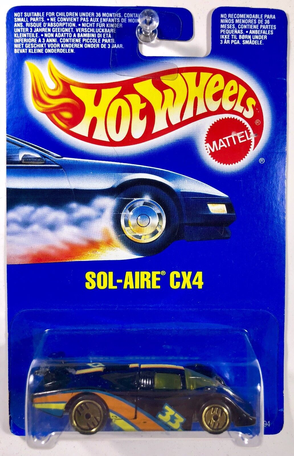 Hot Wheels Sol-AIRE CX4, Guh or Ultra Chaud, carte Internationale-rare