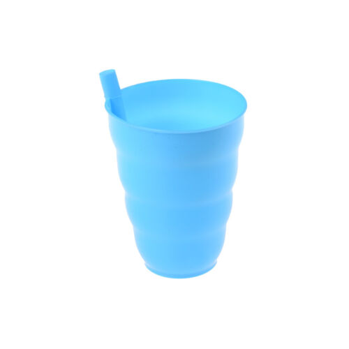 Kids Children Infant Baby Sip Cup with Built in Straw Mug Drink Solid RS