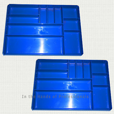 "ernst mfg (2) 5012 BL""the tray"" blue classic tool organizers > yes - 2 trays"