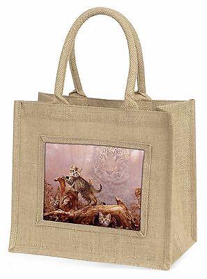 Kätzchen und Leopard Uhr Große Natürliche Jute-einkaufstasche Weihnachtsgeschenk
