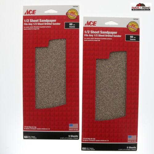 1//2 Sheet Sandpaper 60 Grit ~ New