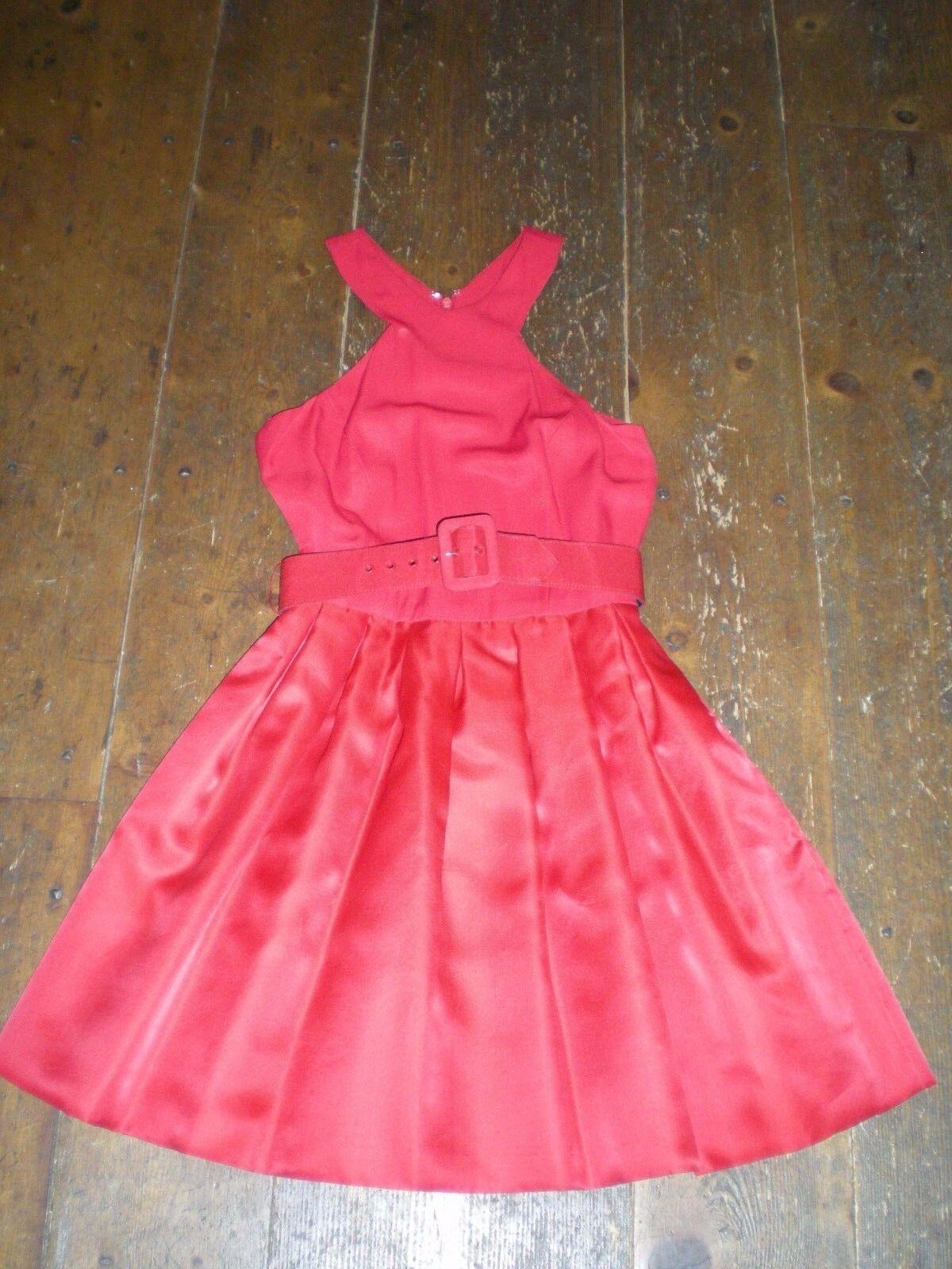 Silk Scaravelli sleeveless red dress