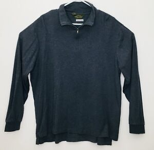 Orvis-Fishing-Gray-Sueded-Cotton-Long-Sleeve-1-4-Zip-Pullover-Men-039-s-XL-Shirt