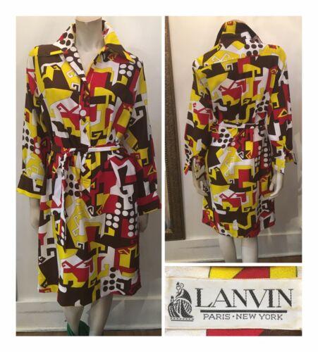 Vintage Lanvin Paris New York 1960s-1970s Mod Prin