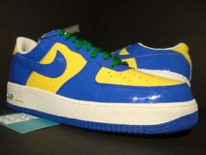 Details about NIKE AIR FORCE 1 PREMIUM BRAZIL WORLD CUP ROYAL BLUE OFF WHITE YELLOW GREEN 13